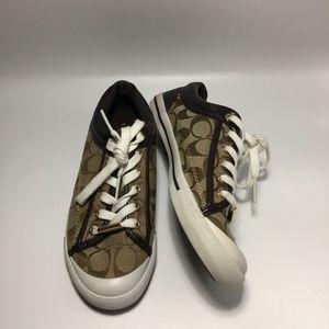 Coach Francesca Jacquard & Leather Sneakers